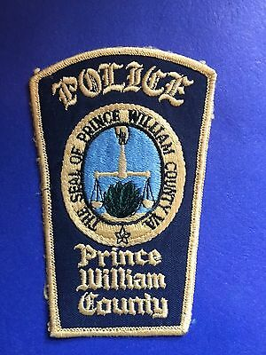 Prince Williams  County Virgina Police Shoulder  Patch  Used Old