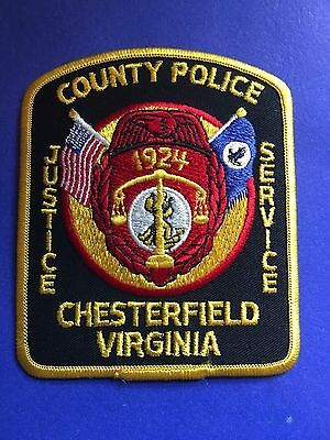 Chesterfield  County Virgina Police Shoulder  Patch