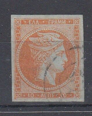 Greece 10L Hermes Orange With Number On Reverse Fu (Id:459/d44049)