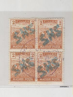 SLOVENIA, HUNGARY  BELTINCI  local issue ,2 fil bloc of 4,    ,used