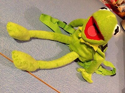 """KERMIT THE FROG The Muppets Cravendale 17"""" Backpack Plush Toy Jim Henson Disney"""