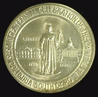 1936-D Columbia,s.c. Silver Commemorative Half Bu Lightly Cleaned   (1837Nam)