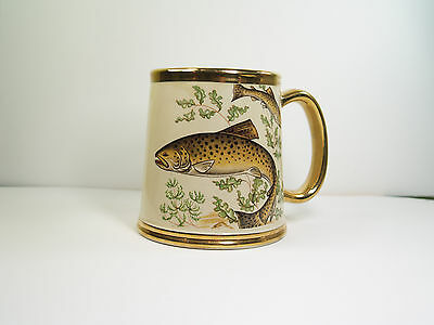 Gibsons Staffordshire Brown Trout Tankard - fishing