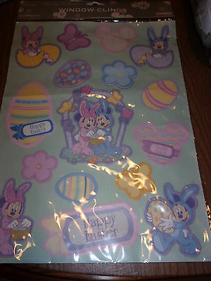 Disney Holiday Collection WDW World Happy Easter Window Clings w/ Minnie