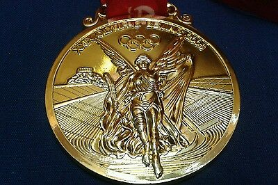2008 China Beijing Olympic Winners Gold Medal Replica With Ribbon Souvenir UK