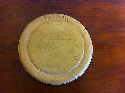 ANTIQUE CARVED SYCAMORE BREAD BOARD 9.5  inches