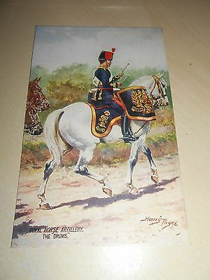 EARLY 1900s HARRY PAYNE OILETTE PC - ROYAL HORSE ARTILLERY - THE DRUMS - VGC