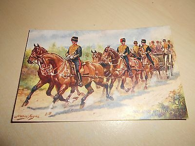 EARLY 1900s HARRY PAYNE OILETTE PC - ROYAL HORSE ARTILLERY - ON THE MARCH - VGC
