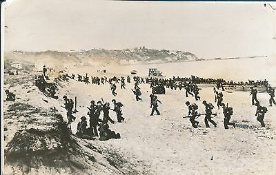 WWII July 1943 GI's beach landing, LCT, Surcouf, North Africa  4 1/2x7 photo