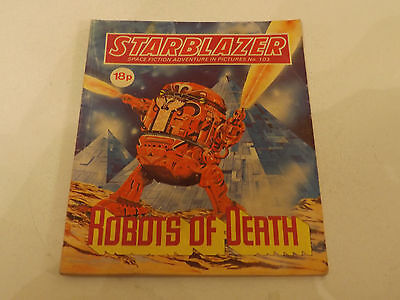 Starblazer Picture Library,no 103,1983 Issue,good For Age,very Rare Sci-Fi Comic