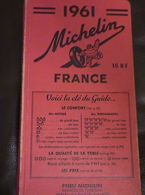 Michelin France 1961 red guide book
