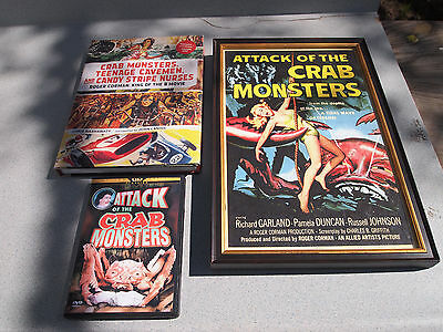 ROGER CORMAN Attack of the CRAB MONSTERS Original Poster MOVIE DVD & BOOK LOT !!