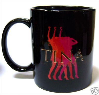 Tina Turner Live In Concert 2008 Blk Coffee Mug Cup New