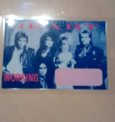 Heart Tour Backstage Laminated Pass