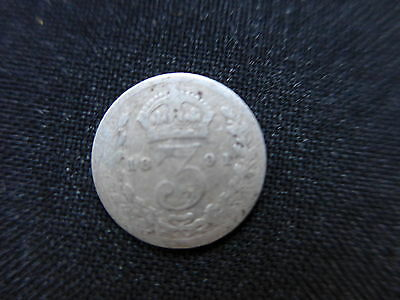 Queen Victoria Silver Threepence 1891
