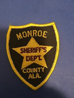 Monroe  County Alabama  Sheriff Small Shoulder  Patch