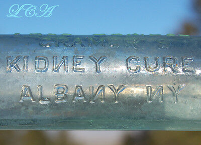 Free Sample CRAMER'S KIDNEY CURE Albany N. Y. ANTIQUE BOTTLE w/spelling ERROR
