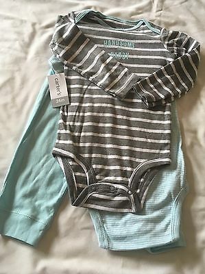 Carter's Baby Boy 3 Piece Bodysuit And Pant Set 24 Months NWT