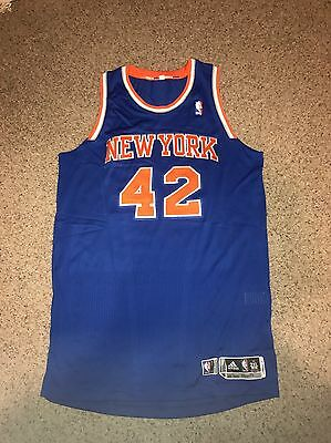 Earl Barron Game Used & Worn 2013 Playoffs NY Knicks Blue Jersey - STEINER LOA