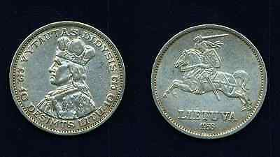 Lithuania   1936   10 Litu  Silver Coin, Very Nice Coin, Almost Uncirculated!