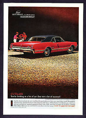 1966 red Oldsmobile Cutlass Sports Coupe photo print ad