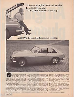 "1967 MG MGB/GT Photo ""It's Licensed Stealing"" print ad"