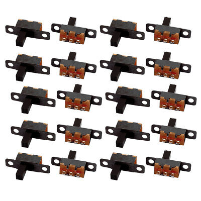 20Pcs 2 Position 3P SPDT Panel Mount Micro Slide Switch Latching Toggle Switch