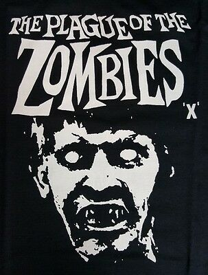 Plague Of The Zombie Hammer Film Black Canvas Back Patch