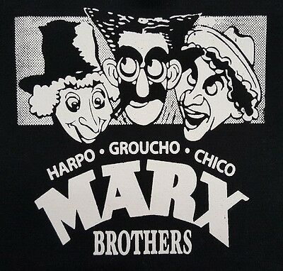 Marx Brothers Black Canvas Back Patch