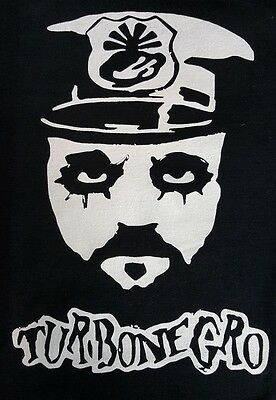 Turbonegro Black Canvas Back Patch