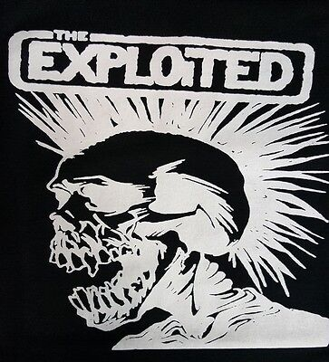 The Exploited Black Canvas Punk Back Patch