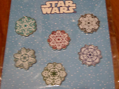 Disney Trading Pins 119142 Star Wars Snowflakes Booster Set