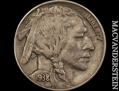 1938-D Buffalo Nickel- No Reserve !! Extra Fine+ !! Better Date !! #o7651