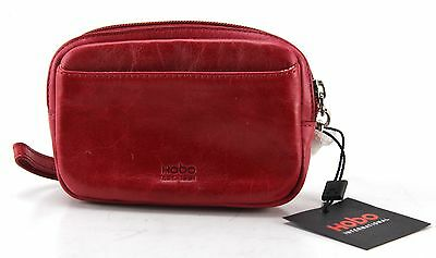 New With Tags Women's HOBO INTERNATIONAL Red Leather Coin Wallet