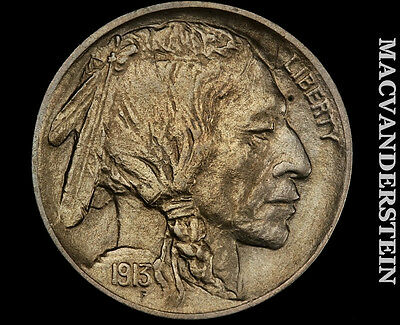 1913 Buffalo Nickel- Type 1 !! Brilliant Uncirculated !! Luster !! #p2745