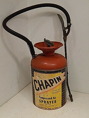Vtg CHAPIN 1.5 Gallon Tank Compressed Air Sprayer Metal Garden