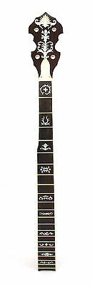 5 String Banjo Neck Maple MOP & Abalone Cross02 Inlay Right Hand NBN289