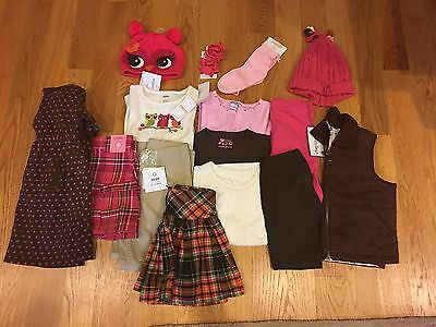 NWTS/EUC Girls Lot of 15 Fall/Winter Clothes Size 5 Gymboree, Baby Gap