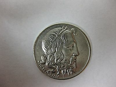 1930 Greece 20 Drachma Silver Foreign Coin Free S/H