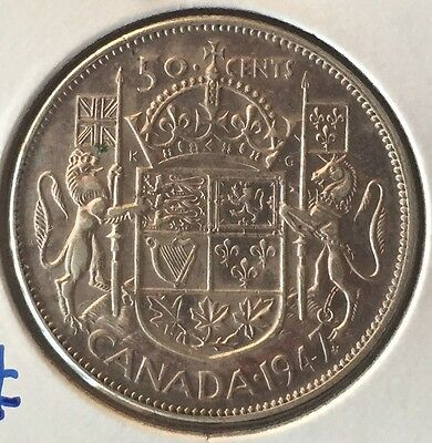 1947 Maple Leaf 50 Cent ~ Canada