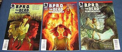 3 Issue Complete Set Of B.P.R.D  The Dead Remembered  2011