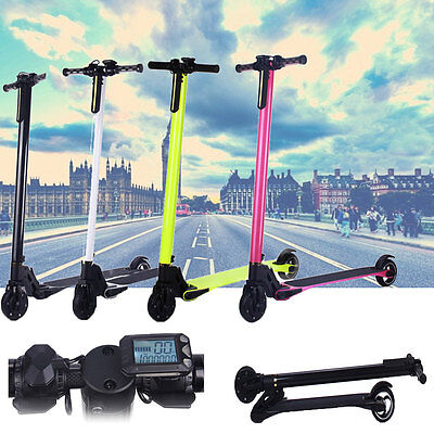 Electric Kick Scooter Carbon Fiber Lightest Foldable Bike Two Wheels LG Battery