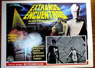 STARSHIP INVASIONS 1977 Mexican Sci-Fi Lobby Card CHRISTOPHER LEE ROBERT VAUGHN