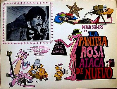 THE PINK PANTHER STRIKES AGAIN 1976 Mexican Lobby Card PETER SELLERS