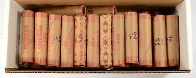 An  Estate Find- Unsearched  -  One  Shotgun  Roll Wheat Pennies