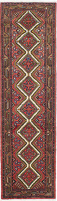 """Hand-knotted Persian Carpet 2'6"""" x 9'2"""" Koliai Traditional  Wool Rug Runner"""