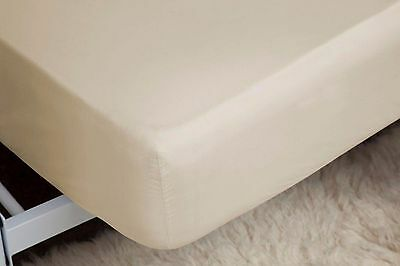 400 Thread Count Single Ply 100% Egyptian Cotton Double Fitted Sheet in Cream