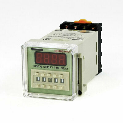 AC 220V DPDT 8 Pole 0.01S-99H99M 4-Digit Programmable Timer Delay Relay DH48S-2Z