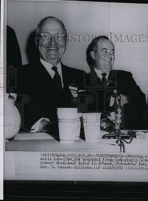 1959 Wire Photo Hubert Humphrey with former President Harry Truman - spw03484