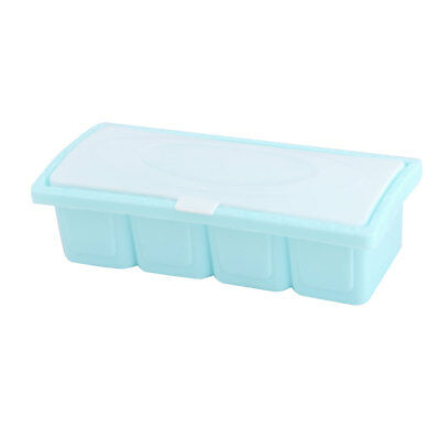 Household Kitchen Plastic 4 Compartments Spices Salt Condiment Container Holder